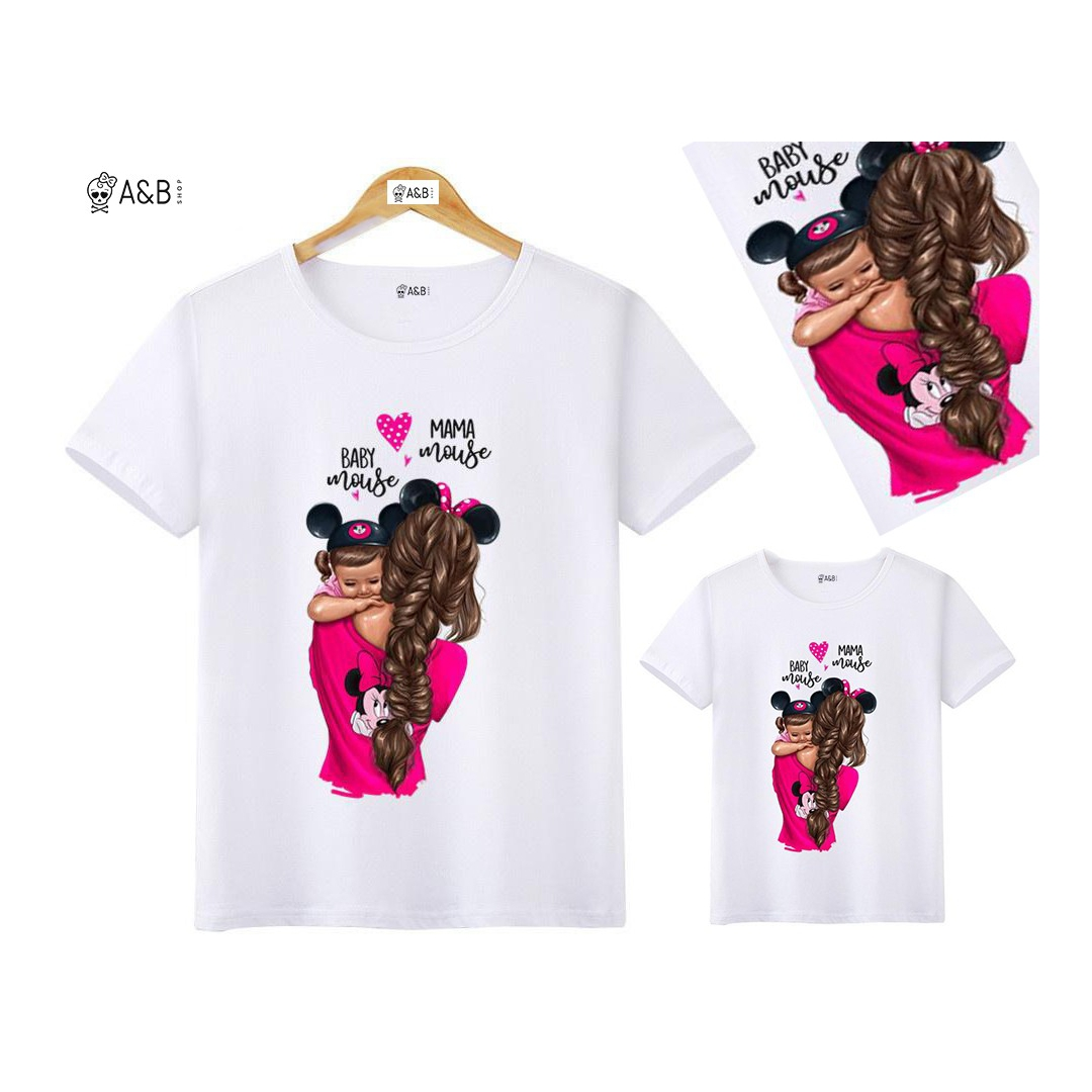 CAMISETA MAMA MOUSE BABY MOUSE