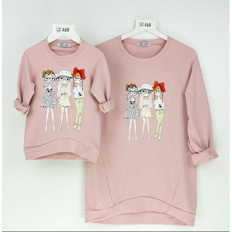 Sudadera fashion girls rosa