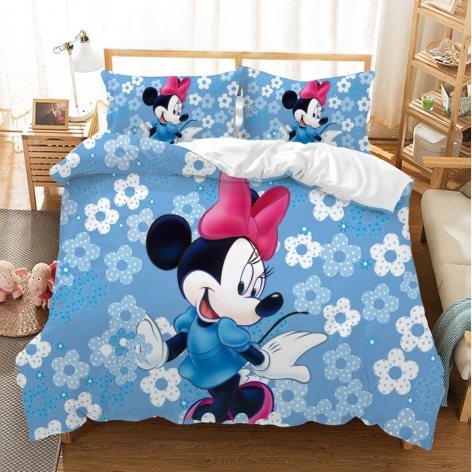 Funda Mickey-Minnie flowers