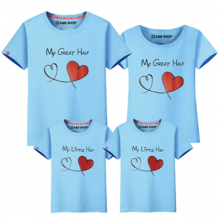 Camiseta My little half - My great half