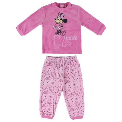 Pijama largo minnie bebè